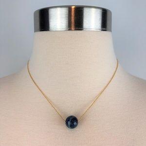 Gorjana Lapis Wisdom Gemstone 18K Gold Necklace